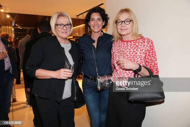 Alice Krueger and her mother Karin and Gabi Strassburger during the Hogan Munich BTQ Cocktail on November 22 2018 at the Hogan Boutique in Munich...