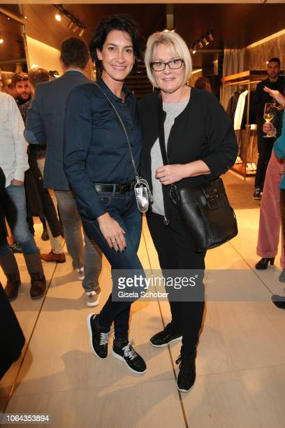 Alice Krueger and her mother Karin during the Hogan Munich BTQ Cocktail on November 22 2018 at the Hogan Boutique in Munich Germany
