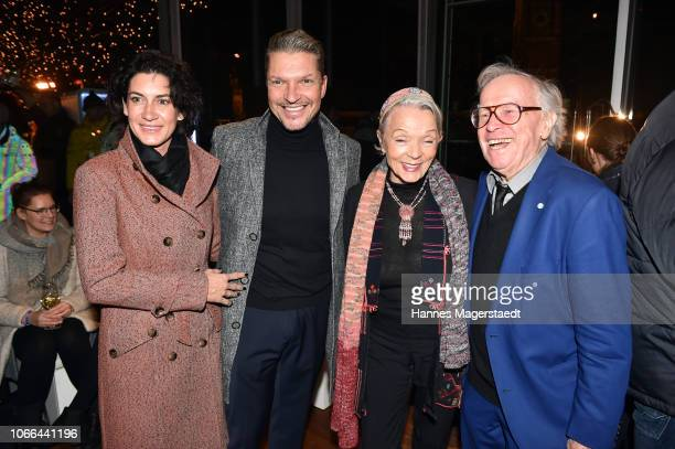 Alice Krueger Hardy Krueger Jr Inge Doldinger and Klaus Doldinger during the Polar Bar Opening at Hotel Bayerischer Hof on November 29 2018 in Munich...