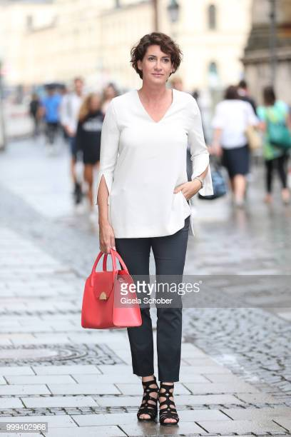 Alice Krueger wife of Hardy Krueger jr during the Bree 'Urban Showroom' store opening on June 7 2018 in Munich Germany The Bree 'Urban Showroom' is a...