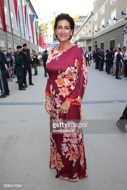 Alice Krueger wife of Hardy Krueger Jr during the premiere of 'Die Zauberfloete' during the Salzburg Festival 2018 at Salzburg State Theatre on July...