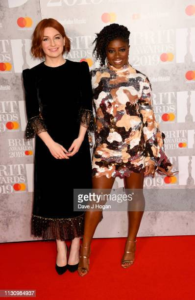 Alice Levine and Clara Amfo attend The BRIT Awards 2019 held at The O2 Arena on February 20 2019 in London England