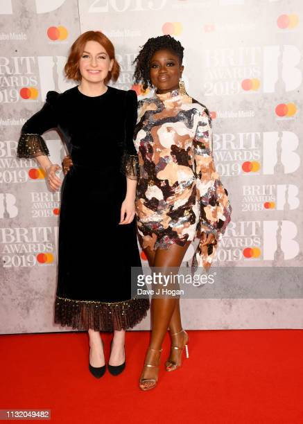 Alice Levine and Clara Amfo attends The BRIT Awards 2019 held at The O2 Arena on February 20 2019 in London England