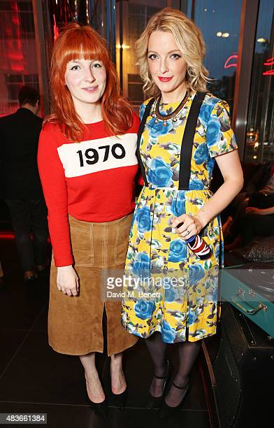 Alice Levine and DJ Lauren Laverne attend the launch of W London Leicester Square's Britpop Vinyl Collection curated by DJ Lauren Laverne at W London...