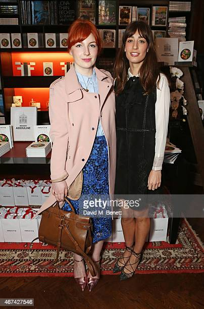 Alice Levine and Laura Jackson attend as Farfetch celebrate the launch of new book 'Farfetch Curates Food' at Maison Assouline on March 24 2015 in...