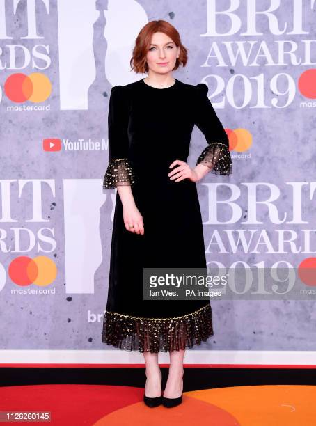 Alice Levine attending the Brit Awards 2019 at the O2 Arena London