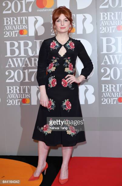 ONLY Alice Levine attends The BRIT Awards 2017 at The O2 Arena on February 22 2017 in London England