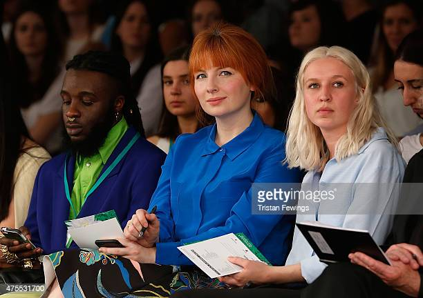 Alice Levine attends the Nottingham Trent University show on day 3 of Graduate Fashion Week at The Old Truman Brewery on June 1 2015 in London England
