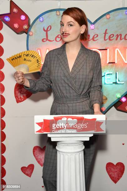 Alice Levine attends the 'Valentines is a Drag' party in association with the dating app Bumble at Loulou's on February 14 2018 in London England