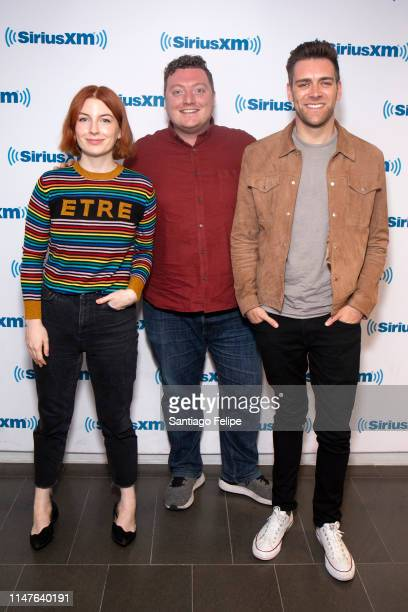 Alice Levine Jamie Morton and James Cooper visit SiriusXM Studios on May 07 2019 in New York City