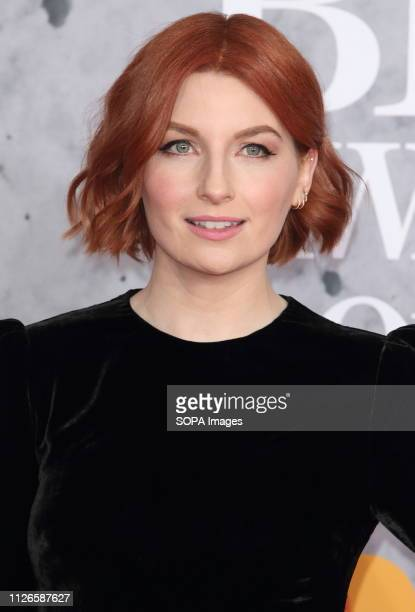 Alice Levine seen on the red carpet during The BRIT Awards 2019 at The O2 Peninsula Square in London