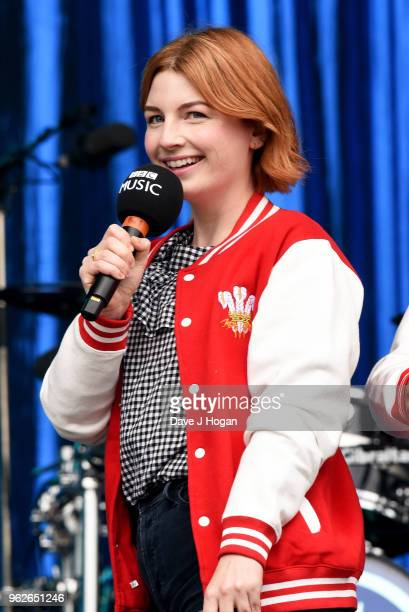 Alice Levine speaks on stage during day 1 of BBC Radio 1's Biggest Weekend 2018 held at Singleton Park on May 26 2018 in Swansea Wales