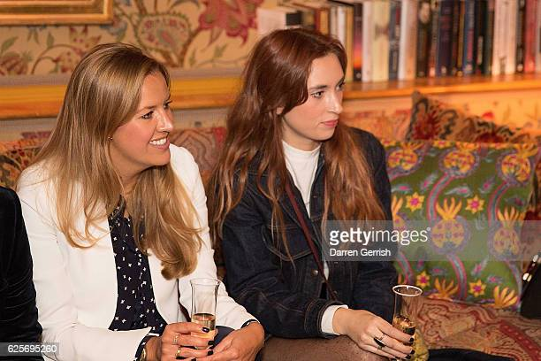 Alice Levison and Cassie Walker attend THE OUTNET Bay Garnett Dinner on November 24 2016 in London England