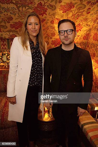 Alice Levison and New York Times London Editor Alexander Fury attend THE OUTNET Bay Garnett Dinner on November 24 2016 in London England