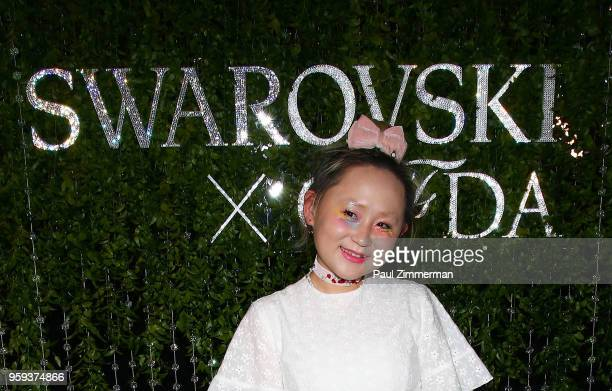 Alice Longyu Gao attends the 2018 CFDA Fashion Awards' Swarovski Award For Emerging Talent Nominee Cocktail Party at DUMBO House on May 16 2018 in...