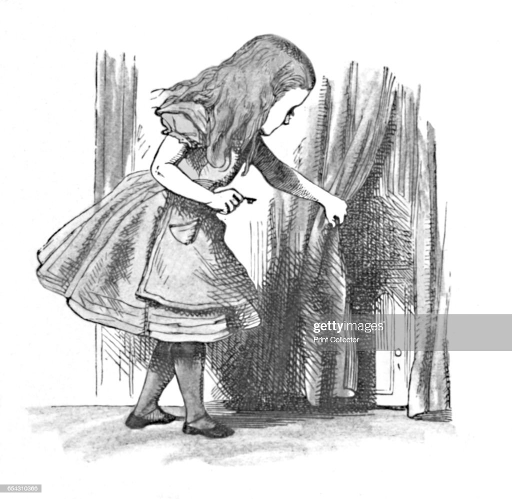 Alice Looking At A Small Door Behind A Curtain 1889  sc 1 st  Getty Images & Alice Looking At A Small Door Behind A Curtain 1889 Pictures ...