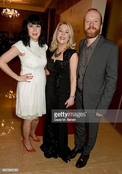 Alice Lowe Anna Smith and Steve Oram attend The London Critics' Circle Film Awards at the May Fair Hotel on January 22 2017 in London England