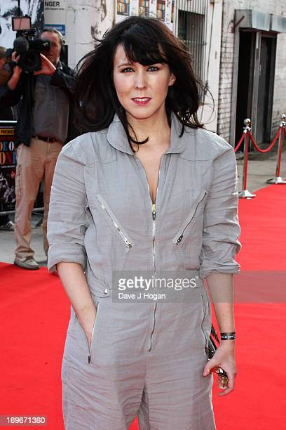 Alice Lowe attends the world premiere of 'Stone Roses Made Of Stone' at Victoria Warehouse on May 30 2013 in Manchester England