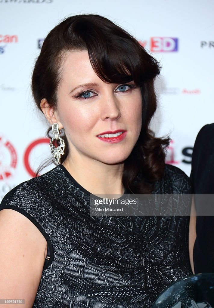 Alice Lowe poses in the press room at the London Film Critics Circle Film Awards at The Mayfair Hotel on January 20, 2013 in London, England.