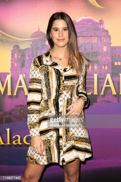 Alice Luvisoni aka Aliluvi attends the Aladdin photocall and red carpet at The Space Cinema Odeon on May 15 2019 in Milan Italy
