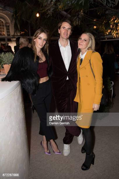 Alice Manners Otis Ferry and Alice Naylor Leyland attend 'Bottega Veneta the Hand of the Artisan' event at Chiswick House And Gardens on November 9...