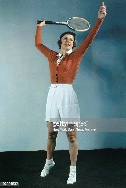 Alice Marble in the Daily News color studio