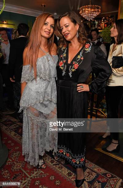 Alice McCall and Jade Jagger attend Alice McCall Fall 2017 Collection Launch Vip Dinner at Albert's on February 23 2017 in London England