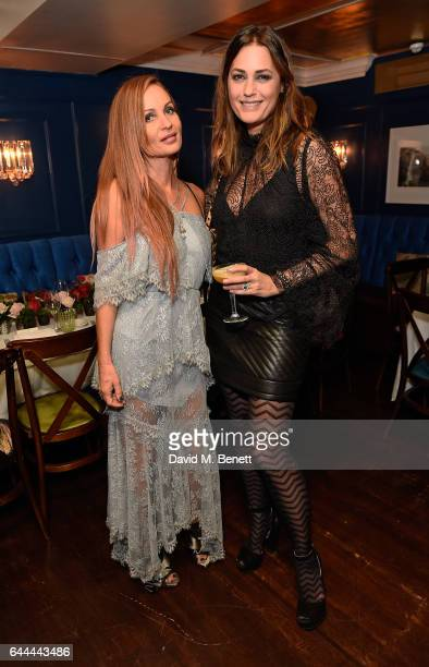 Alice McCall Fall and Yasmin Le Bon attend Alice McCall Fall 2017 Collection Launch Vip Dinner at Albert's on February 23 2017 in London England