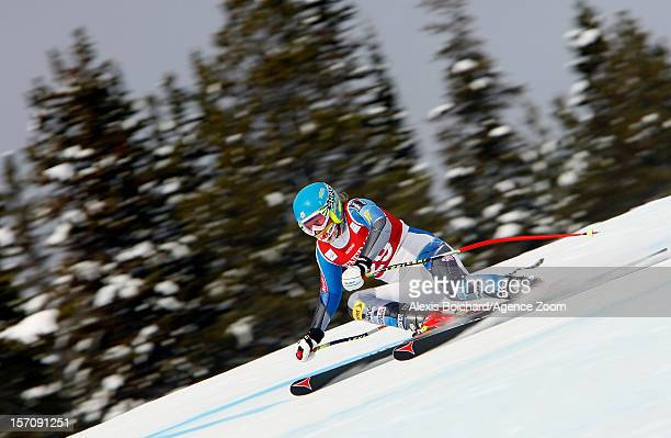 Alice McKennis of the USA competes during the Audi FIS Alpine Ski World Cup Women's Downhill training on November 28 2012 in Lake Louise Canada