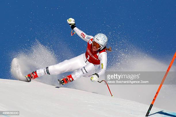 Alice McKennis of the USA competes during the Audi FIS Alpine Ski World Cup Womenâs Downhill Training on December 02 2015 in Lake Louise Canada