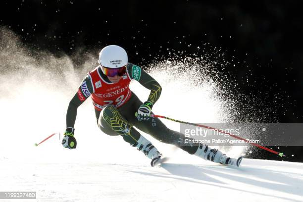 Alice Mckennis of USA in action during the Audi FIS Alpine Ski World Cup Women's Downhill on February 8, 2020 in Garmisch Partenkirchen, Germany.