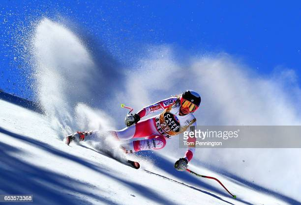Alice Merryweather of the United States competes in the Ladies' Downhill for the 2017 Audi FIS Ski World Cup Final at Aspen Mountain on March 15 2017...