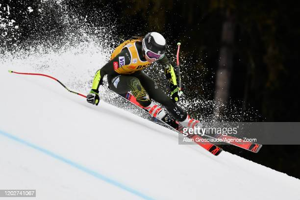 Alice Merryweather of USA competes during the Audi FIS Alpine Ski World Cup Women's Alpine Combined on February 23, 2020 in Crans Montana Switzerland.