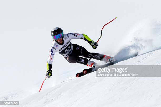 Alice Merryweather of USA in action during the Audi FIS Alpine Ski World Cup Women's Super G on December 8 2018 in St Moritz Switzerland