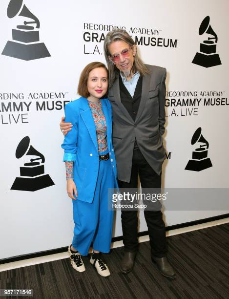 Alice Merton and GRAMMY Museum Executive Director Scott Goldman attend Spotlight Alice Merton at The GRAMMY Museum on May 10 2018 in Los Angeles...