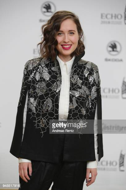 Alice Merton arrives for the Echo Award at Messe Berlin on April 12 2018 in Berlin Germany