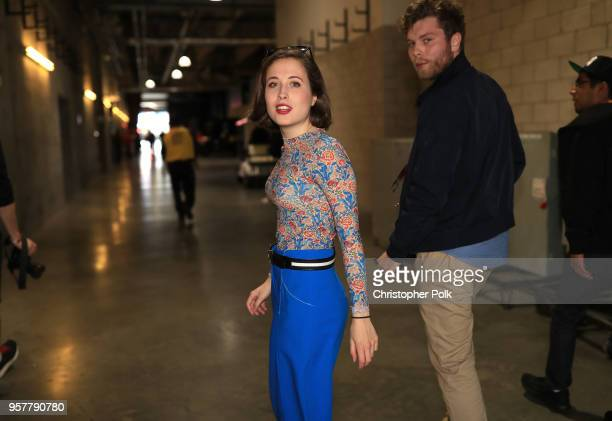 Alice Merton backstage at KROQ Weenie Roast 2018 at StubHub Center on May 12 2018 in Carson California