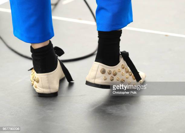 Alice Merton fashion detail performs onstage at KROQ Weenie Roast 2018 at StubHub Center on May 12 2018 in Carson California