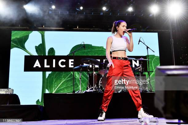 Alice Merton performs at Gobi Tent during the 2019 Coachella Valley Music And Arts Festival on April 21 2019 in Indio California