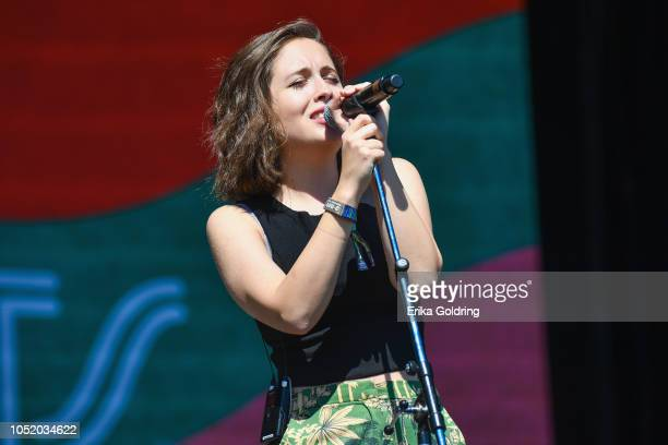 Alice Merton performs during Austin City Limits Festival at Zilker Park on October 12 2018 in Austin Texas