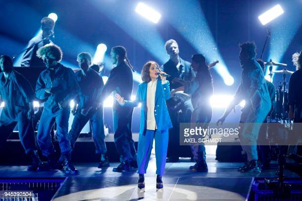 Alice Merton performs during the 2018 Echo Music Awards ceremony on April 12 2018 in Berlin / AFP PHOTO / AXEL SCHMIDT