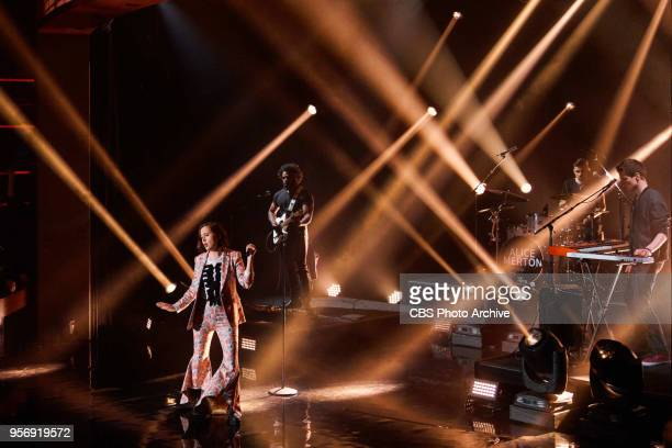 Alice Merton performs during The Late Late Show with James Corden Wednesday May 9 2018 On The CBS Television Network