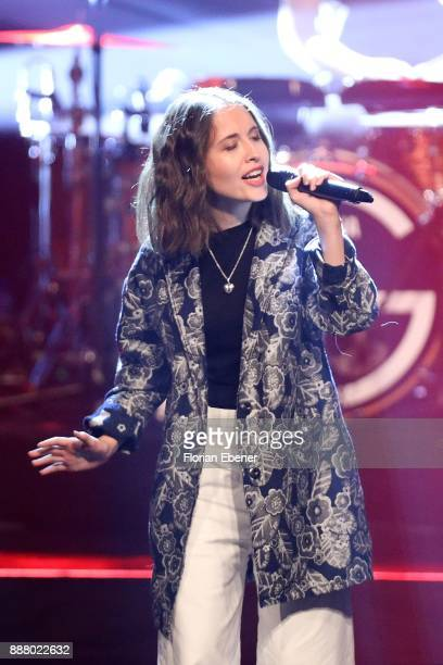 Alice Merton performs on stage during the 1Live Krone at Jahrhunderthalle on December 7 2017 in Bochum Germany