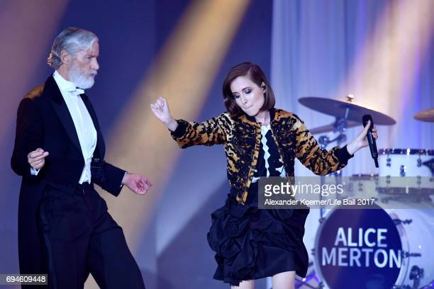 Alice Merton performs on stage during the Life Ball 2017 show at City Hall on June 10 2017 in Vienna Austria