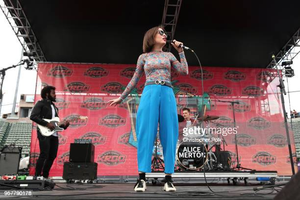 Alice Merton performs onstage at KROQ Weenie Roast 2018 at StubHub Center on May 12 2018 in Carson California