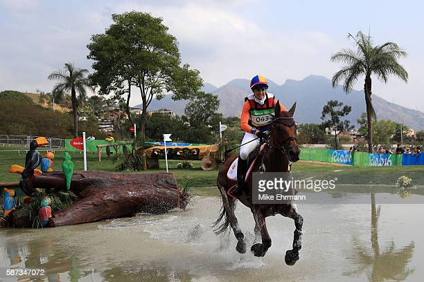 Alice NaberLozeman of the Netherlands riding Peter Parker competes during the Cross Country Eventing on Day 3 of the Rio 2016 Olympic Games at the...