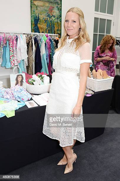 Alice Naylor Leyland attends a summer sale at Grace Belgravia in aid of Silent No More the campaign raising money for the Gynaecological Cancer Fund...