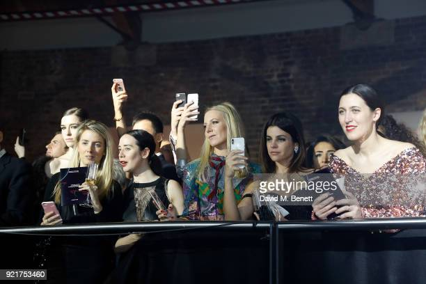 Alice Naylor Leyland Julia Restoin Roitfeld and Emilia Wickstead at the Naked Heart Foundation's Fabulous Fund Fair in London at The Roundhouse on...