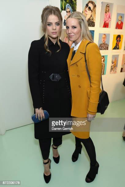 Alice NaylorLeyland and Bea Fresson attend a cocktail party hosted by Laura Bailey and Zanzan at Alex Eagle on November 9 2017 in London England