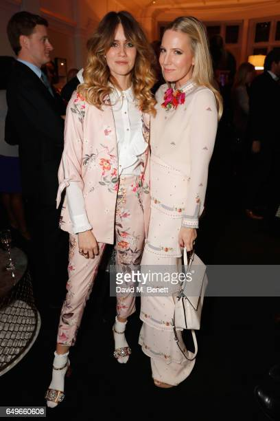 Alice NaylorLeyland and Whinnie Williams at the launch party of the Women's Space on International Women's Day on March 6 2017 in London England